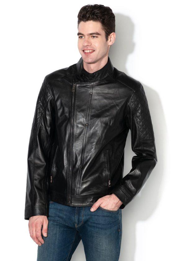 Jacheta de piele - cu fermoar-jachete-Zee Lane