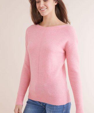 Pulover cu detalii striate-tricotaje-NEXT