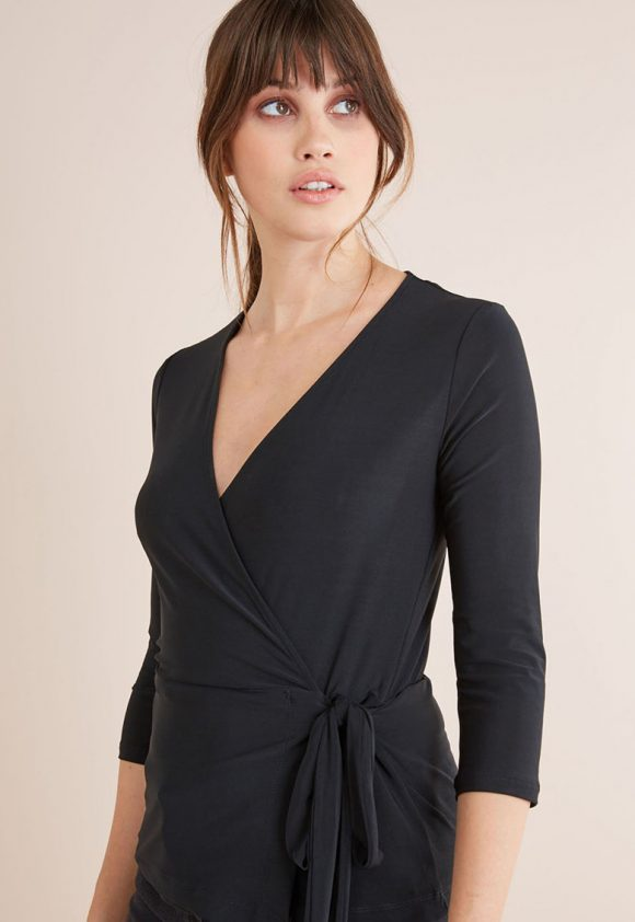 Bluza petrecuta cu maneci 3/4-bluze-NEXT