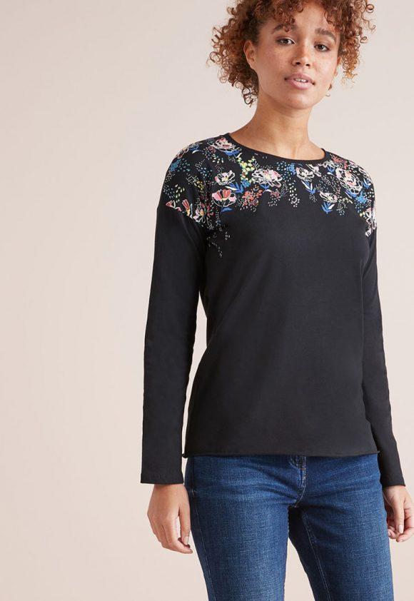 Bluza cu model floral-bluze-NEXT