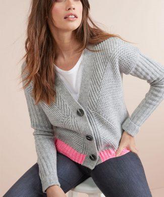 Cardigan cu striatii-tricotaje-NEXT