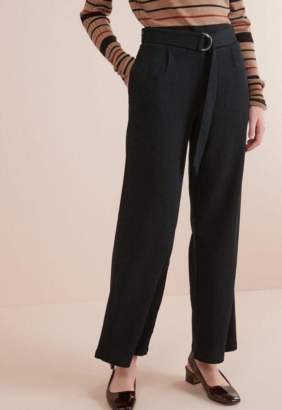 Pantaloni cu croiala ampla si curea-pantaloni si colanti-NEXT