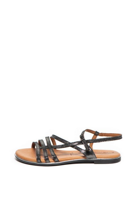 Sandale de piele cu aspect metalizat-sandale-Tamaris