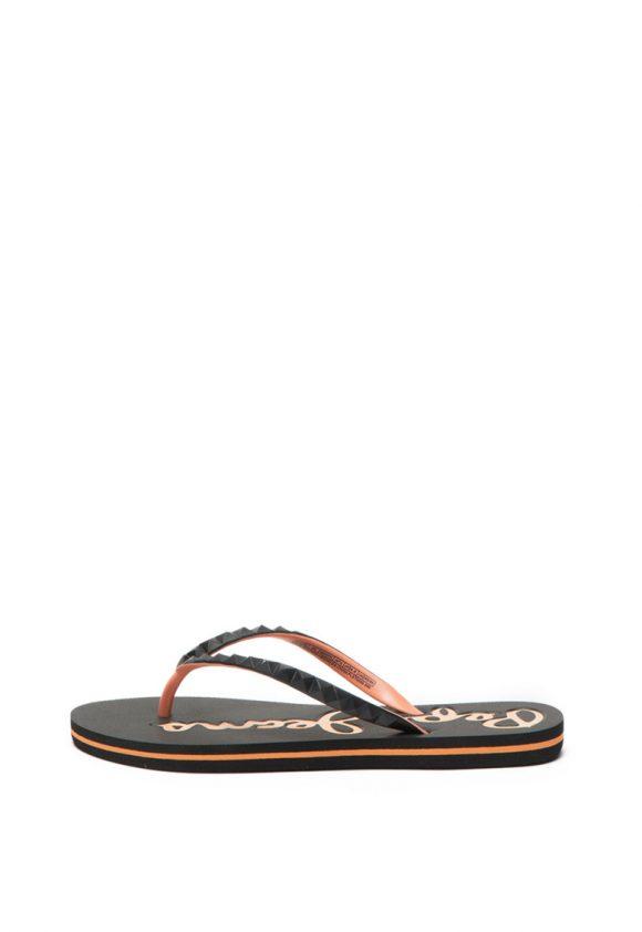 Papuci flip-flop cu logo stantat Rake-papuci-Pepe Jeans London
