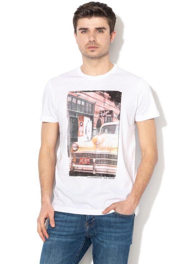 Tricou cu imprimeu grafic Fransez-tricouri-BIG STAR
