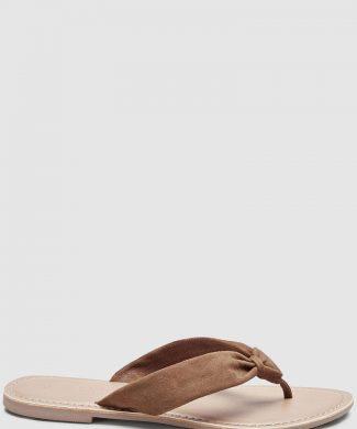 Papuci flip flop de piele intoarsa-papuci-NEXT