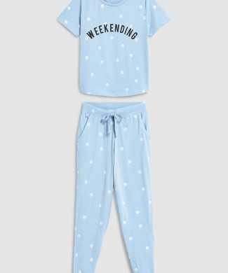 Pijama cu buline-pijamale si halate de baie-NEXT