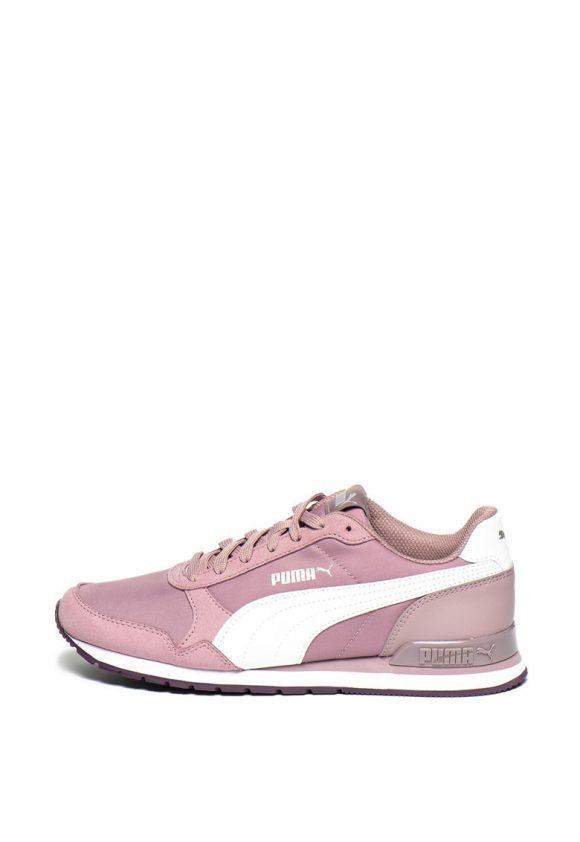 Pantofi sport cu garnituri de piele ecologica si piele intoarsa ecologica Runner-tenisi-Puma
