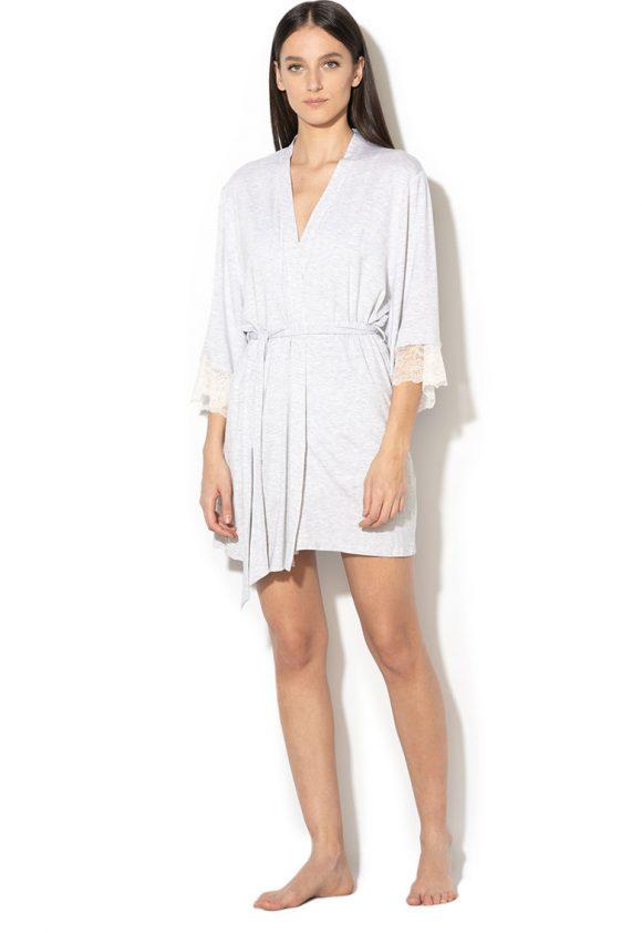 Halat din amestec de modal - cu cordon Cordelia-pijamale si halate de baie-Dorina