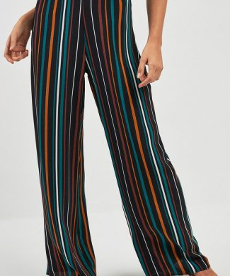 Pantaloni in dungi cu croiala ampla-pantaloni si colanti-NEXT