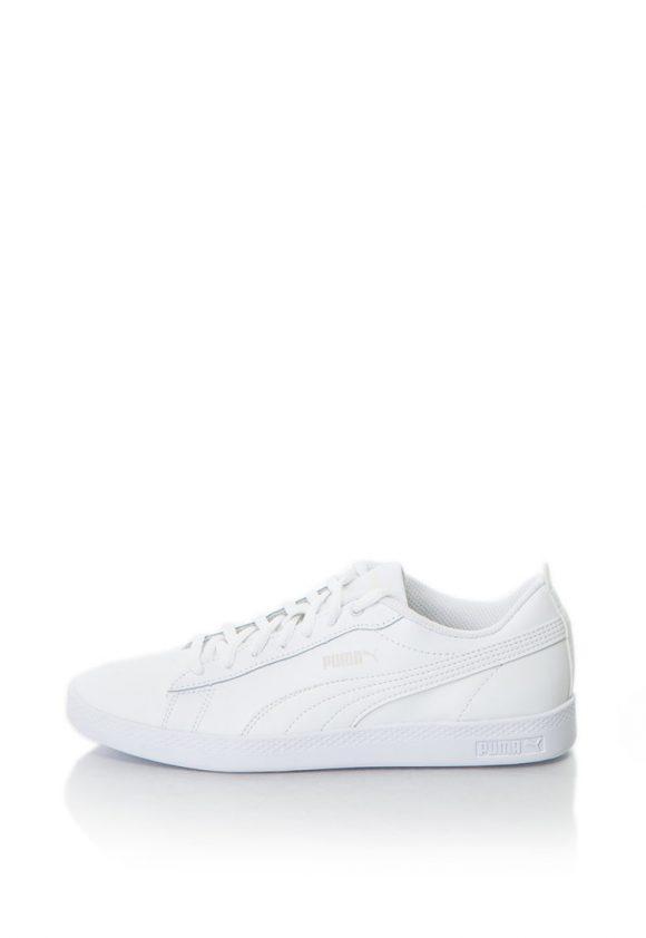 Pantofi sport de piele cu logo Smash v2-tenisi-Puma
