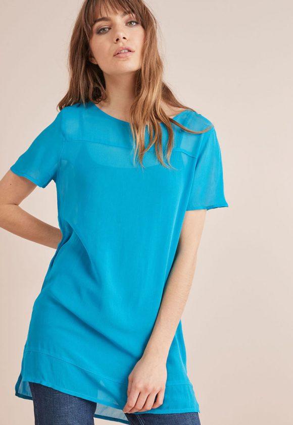 Bluza tip tunica din material vaporos-bluze-NEXT