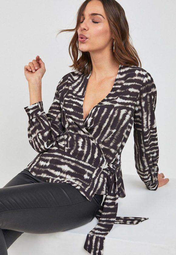 Bluza petrecuta cu imprimeu-bluze-NEXT