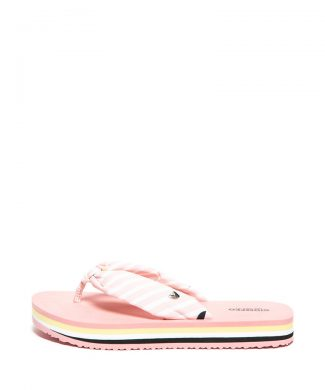 Papuci flip-flop cu model in dungi Boise-papuci-Gioseppo