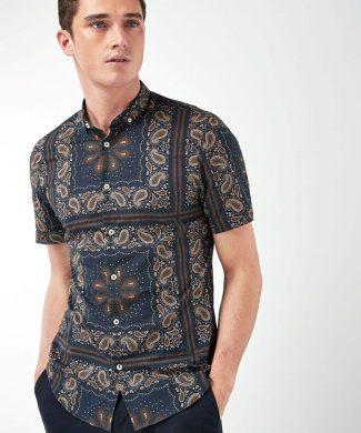 Camasa slim fit cu imprimeu paisley-camasi-NEXT