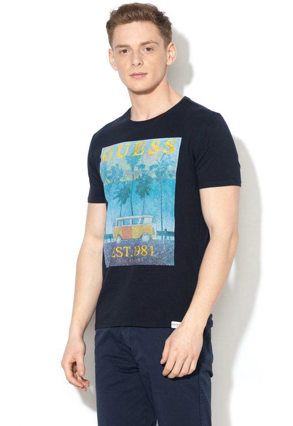 Tricou slim fit cu imprimeu-tricouri-GUESS JEANS