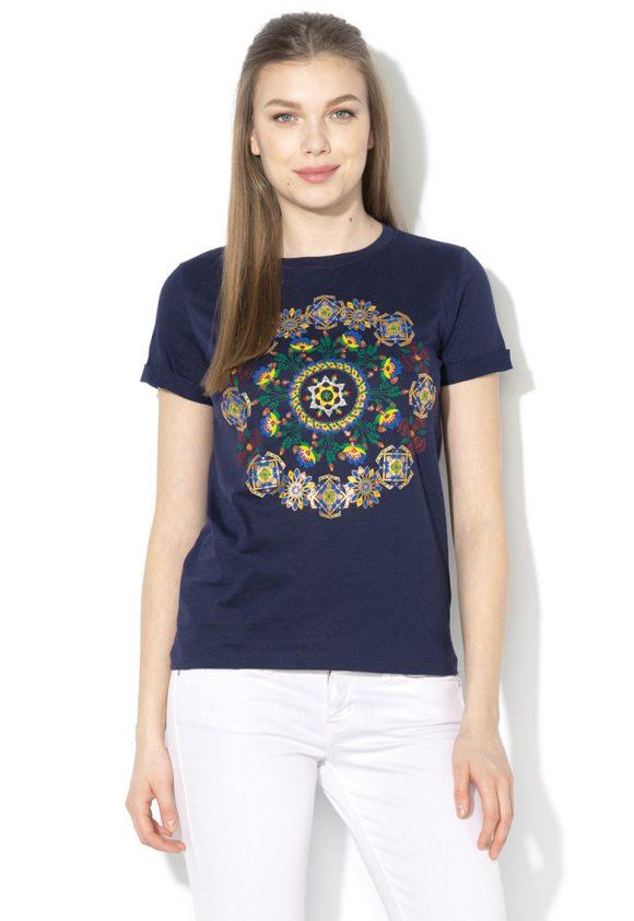 Tricou cu motive mandala stralucitoare Annette-tricouri-DESIGUAL
