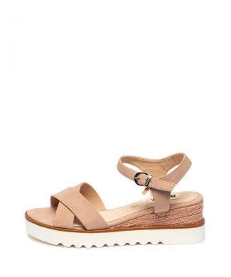 Sandale de piele ecologica - cu talpa wedge-sandale-MTNG