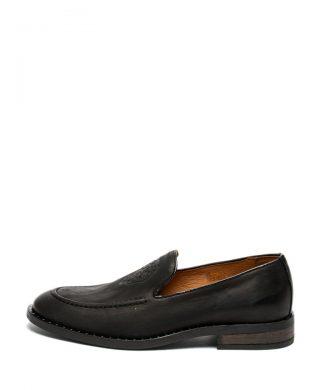 Pantofi loafer de piele cu detaliu in relief-mocasini-Guess