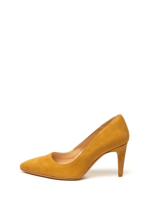 Pantofi de piele nabuc cu varf ascutit Lana-pantofi clasici-Clarks