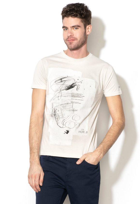 Tricou slim fit cu imprimeu grafic Gent-tricouri-Pepe Jeans London