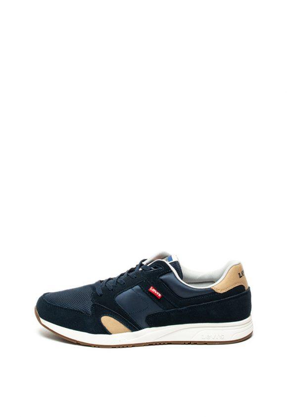 Pantofi sport cu insertii de piele intoarsa Sutter-tenisi-Levis
