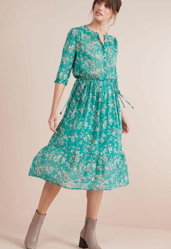 Rochie midi cu imprimeu floral-rochii-NEXT