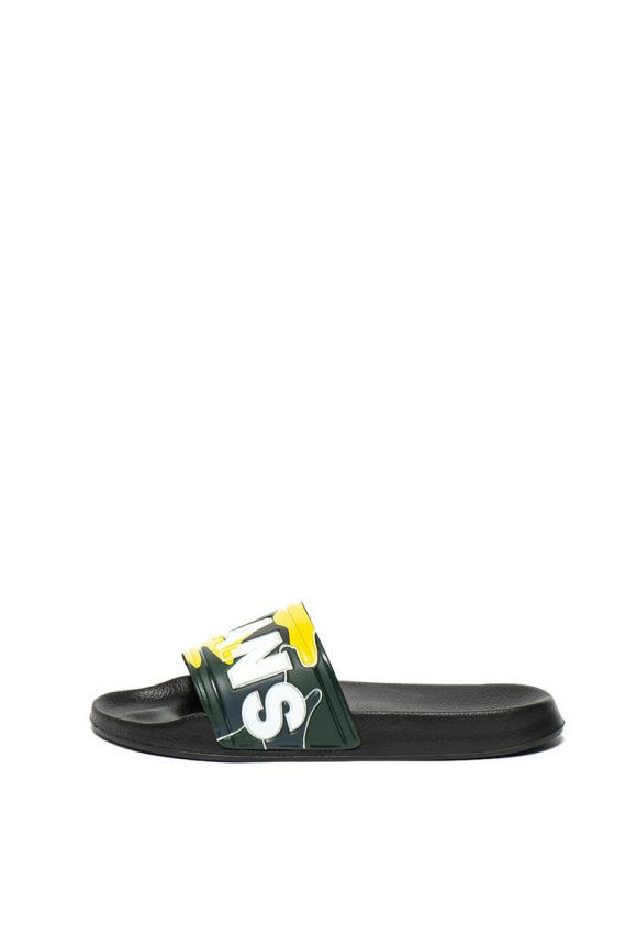 Papuci cu imprimeu logo Slider-papuci-Pepe Jeans London