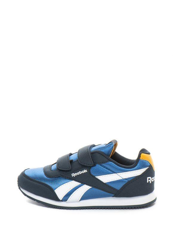Pantofi sport cu insertii de piele intoarsa sintetica si velcro Royal-pantofi clasici-Reebok Classics