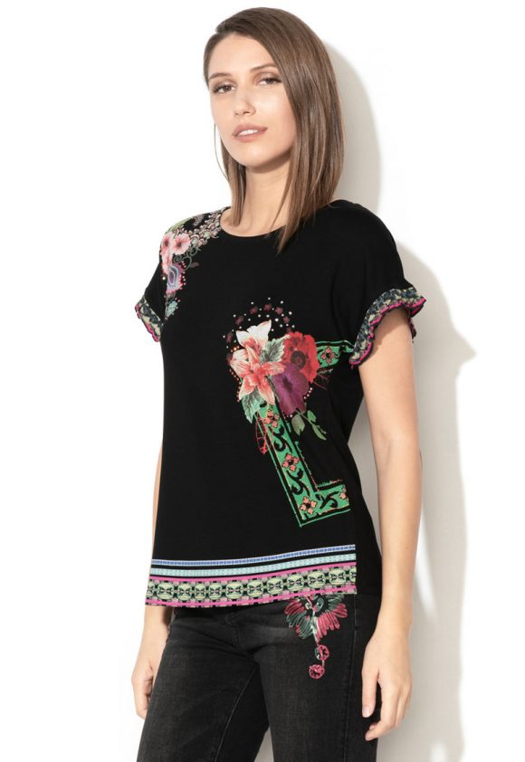 Bluza cu imprimeu floral Medoc-bluze-DESIGUAL