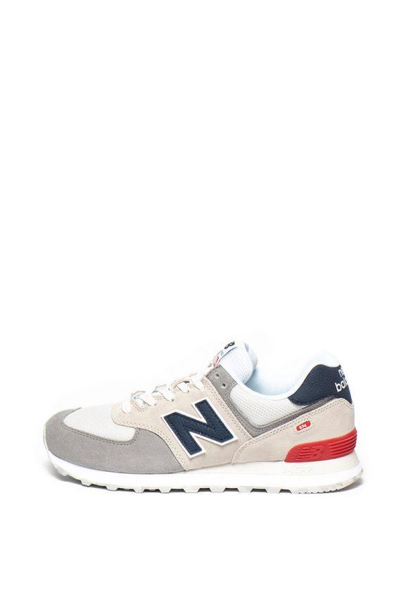 Pantofi sport de piele intoarsa cu insertii de plasa 574-tenisi-New Balance