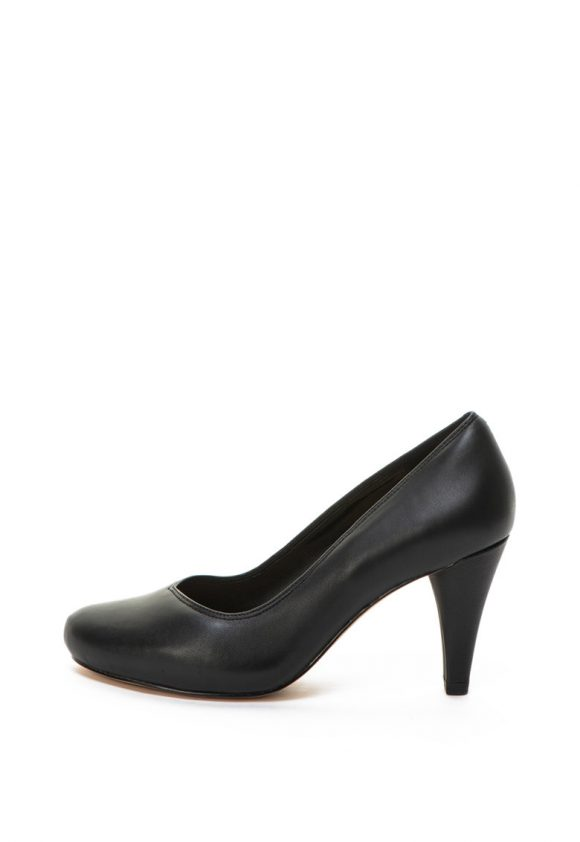 Pantofi de piele cu toc inalt Dalia Rose-pantofi clasici-Clarks