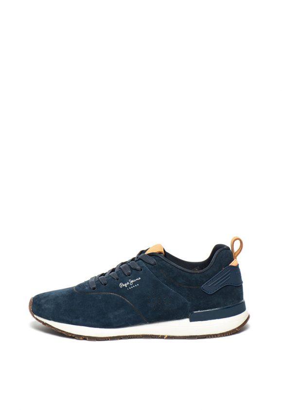 Pantofi sport de piele nabuc Boston-tenisi-Pepe Jeans London