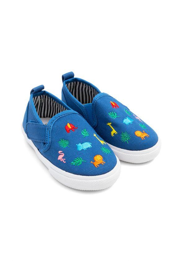 Pantofi slip-on cu broderii grafice-pantofi clasici-JoJo Maman Bebe