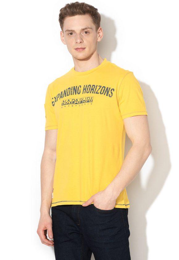 Tricou cu imprimeu text Selize-tricouri-Napapijri