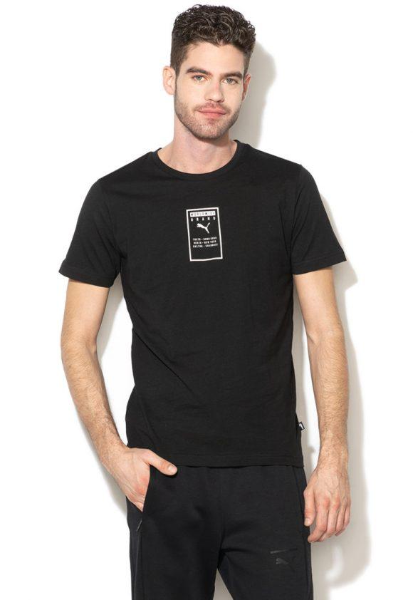 Tricou cu imprimeu text-tricouri-Puma