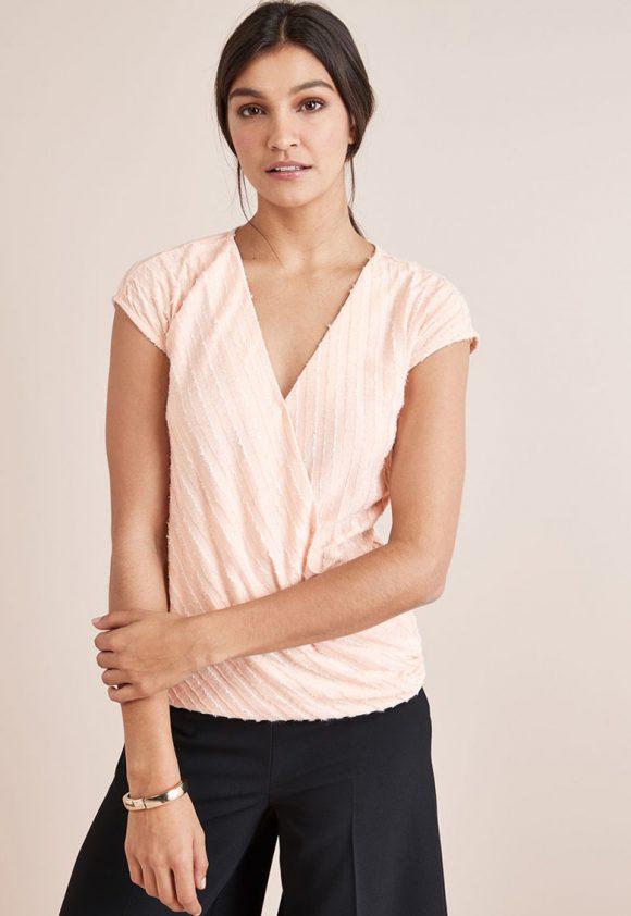 Bluza cu decolteu cache-coeur-bluze-NEXT