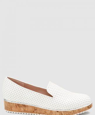Pantofi slip-on de piele ecologica - cu talpa cu aspect de pluta-pantofi clasici-NEXT