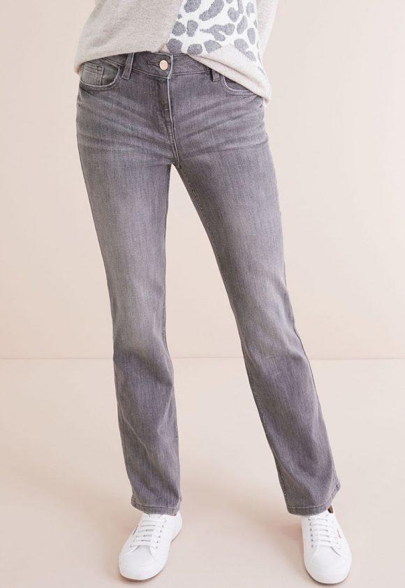 Blugi boot cut cu aspect decolorat-jeansi-NEXT
