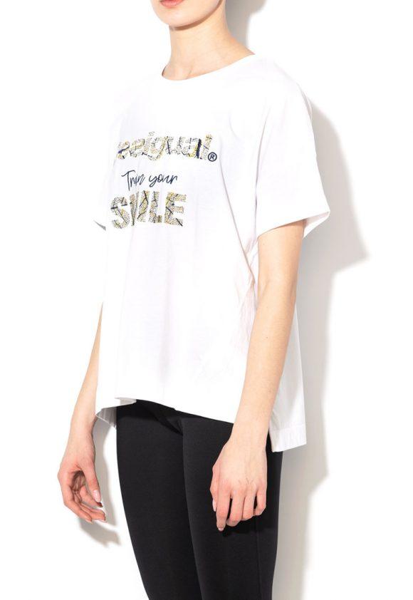 Tricou cu logo brodat pentru fitness-tricouri-DESIGUAL