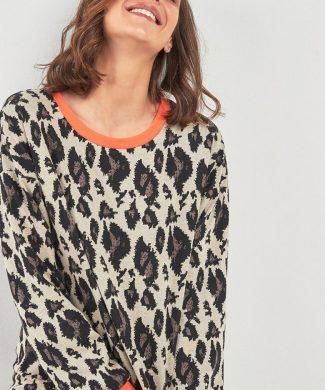 Pulover cu animal print-tricotaje-NEXT