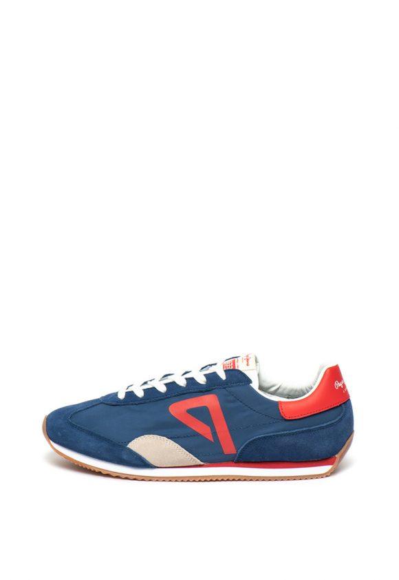 Pantofi sport cu garnituri de piele intoarsa Tahiti Retro-tenisi-Pepe Jeans London