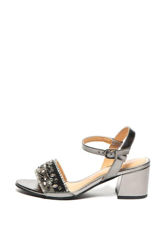Sandale de piele - cu aplicatii de strasuri Gavarnie-sandale-Gioseppo