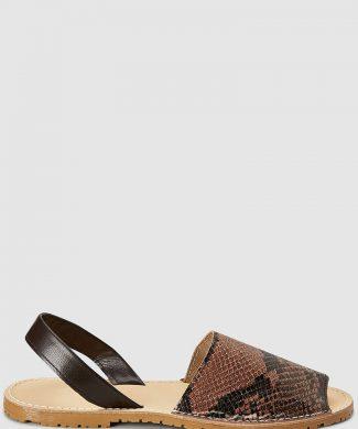 Sandale cu talpa joasa - de piele-sandale-NEXT