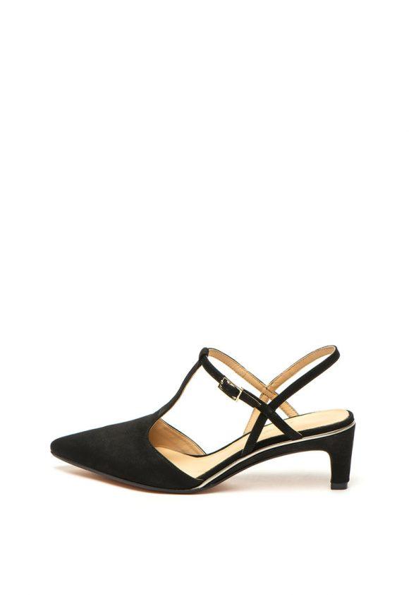 Pantofi slingback de piele nabuc Ellis-pantofi clasici-Clarks