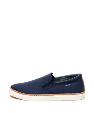 Pantofi slip-on de panza cu garnitura de piele Bari-pantofi clasici-Gant
