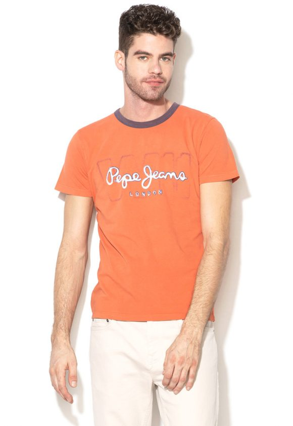 Tricou slim fit cu imprimeu logo Marlon-tricouri-Pepe Jeans London