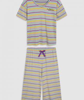 Pijama cu dungi-pijamale si halate de baie-NEXT