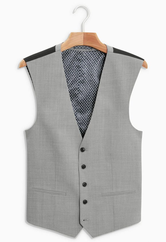 Vesta eleganta din amestec de lana 8A-jachete-NEXT