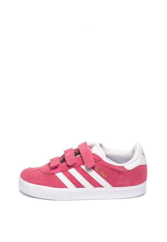 Pantofi sport de piele intoarsa si piele ecologica Gazelle-pantofi clasici-Adidas ORIGINALS